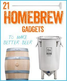 When the holidays come up and you don't know what to get Jimmy, just refer to this list! 21 Homebrew Gadgets To Make Better Beer Brewing Recipes, Homebrew Recipes, Beer Recipes, All Beer, Wine And Beer, Best Beer, Home Brewery, Home Brewing Beer, How To Make Beer