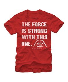 Another great find on #zulily! Star Wars 'The Force Is Strong' Tee - Men's Regular by Star Wars #zulilyfinds