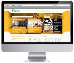 Diseño página web Be Suites.