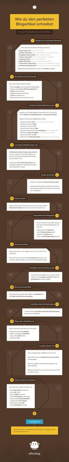 Wie du den perfekten Blogartikel schreibst – 15 einfache Schritte