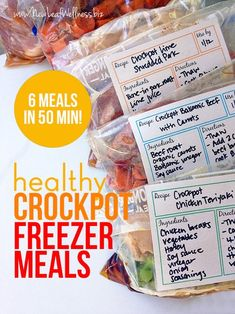 Six healthy freezer crockpot meals in 50 minutes | New Leaf Wellness | Bloglovin'