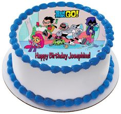 Teen Titans Go 3 Edible Birthday Cake Topper