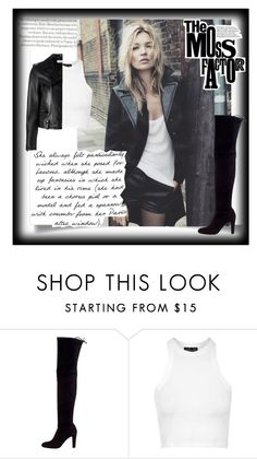 """""""Kate moss"""" by angelinapomaro ❤ liked on Polyvore featuring Topshop, Stuart Weitzman, Yves Saint Laurent and KateMoss"""