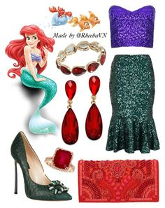 """""""Ariel 3"""" by rheebavn ❤ liked on Polyvore featuring French Connection, Casadei, Balmain, Style & Co., Trifari and Effy Jewelry"""