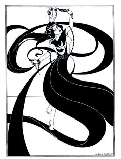 Aubrey Beardsley (1872-1898) lived for only 26 years but his Art Nouveau art lives on. (Like many of the era he was heavily influenced by the Japanese woodblock prints that became popular in England in the late 19th century.)