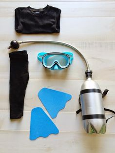scuba diver?! what a cute Halloween costume idea!