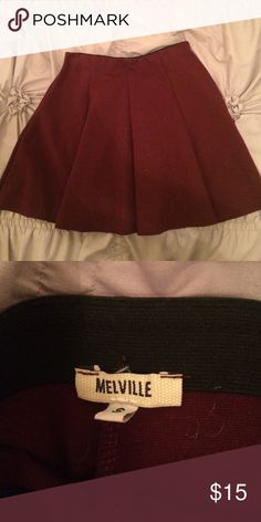 Brandy Melville maroon skirt Thick material, mid thigh, perfect condition (lower prices on Ⓜercari) Brandy Melville Skirts Mini
