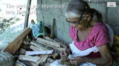 Amate Paper process in San Pablito México.