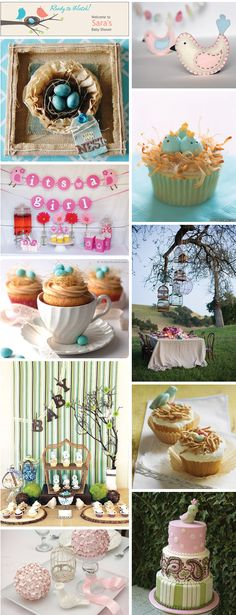 Bird Themed Baby Shower Ideas Inspiration and Labels