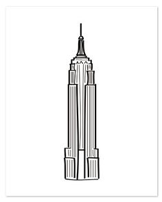 Empire State Letterpress Print 16x20 | The Everygirl