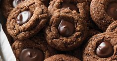 Spicy chocolate cookies rolled in sugars and finished with a chocolate ganache center.