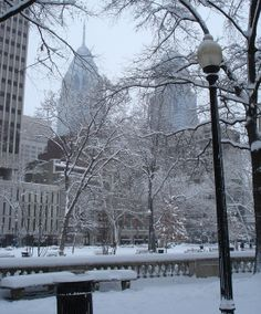Rittenhouse Square during Winter.