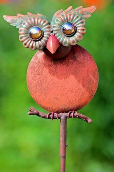 Uilskuiken #owl #iron #art #garden