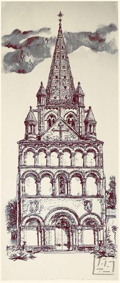 Gensac la Pallue, 2. Artist's print. 377.