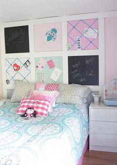 Chalkboard/Bulletin Board Wall Above Child's Bed
