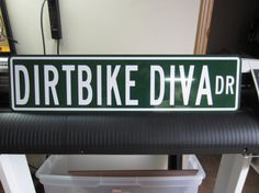 Personalized Metal sign Dirtbike Diva dr by AdrenalineGraphix, $15.99