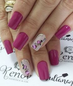 The 90 Vigorous Early Spring Nails Art Designs are so perfect for this Season Hope they can inspire you and read the article to get the gallery. Spring Nail Art, Spring Nails, Pretty Nail Art, Beautiful Nail Art, Nagel Hacks, Nagellack Design, Fancy Nails, Fabulous Nails, Flower Nails