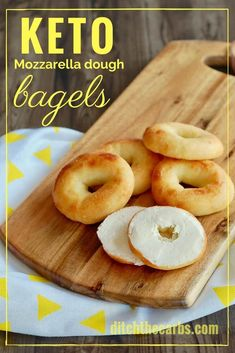 Easy recipe for Keto mozzarella dough bagels | ditchthecarbs.com