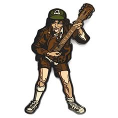 AC/DC High Voltage Angus Young FiGPiN Enamel Pin - FiGPiN - AC/DC - Pins at Entertainment Earth