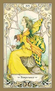 """Temperance"" from the Mystic Faerie Tarot by Barbara Moore & Linda Ravenscroft  Tarot Deck - 78 Cards"