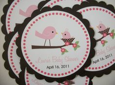 Birdie favor tags-matching invitations