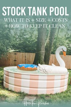 It is an alternative to the cheaper kiddie and more expensive above-ground pools… plus it adds appeal to your yard or outdoor space. Stock Tank Pool DIY with Hey Wanderer. What it is, best size, costs and how to keep it clean. Stock Pools, Stock Tank Pool, Small Above Ground Pool, In Ground Pools, Backyard Playset, Backyard Patio, Pool Diy, Piscine Diy, Pool Sizes