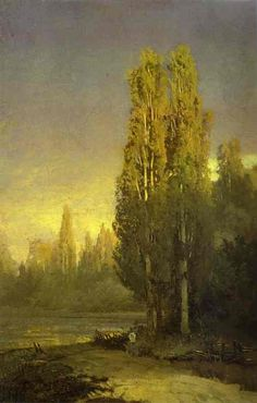 Fyodor Vasilyev - Poplars Lit by the Sun