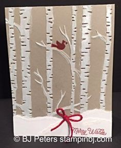 Stampin' Up!, BJ Peters, Woodlands embossing folder, Among the Branches, Holiday, Stamps in the mail, class in the mail