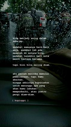 Quotes Rindu, Story Quotes, Tumblr Quotes, Words Quotes, Best Quotes, Motivational Quotes, Life Quotes, Qoutes, Cinta Quotes
