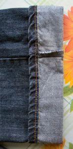 fixing jean length and keep original hem