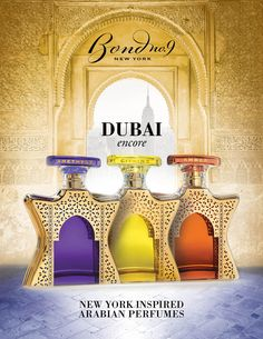 Bond No 9 Dubai Collection: Dubai Amber, Dubai Amethyst, Dubai Citrine