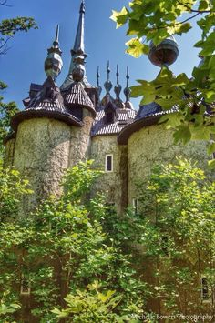 Castle Mont Rouge. Located in Rougemont, it's hard to believe you can find this whimsical castle hiding in the woods. It was once a sculptor's dream-to-life vision. But the plans fell apart and were left in abandon after the death of his wife. While not in the best condition, many explorers take a day trip to witness the magic in the making.