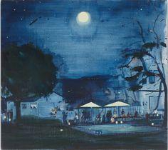 Jules de Balincourt, Blackout, 2013, Oil on panel, 18x20in (45.7x50.8cm)