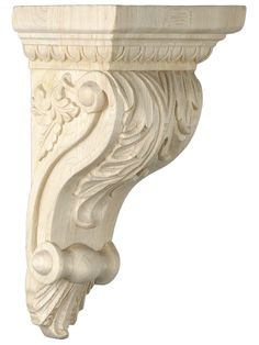 Decorative Wood. Leaf Pattern Corbel in 4 Sizes with Choice of Wood