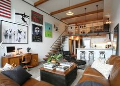 loft above kitchen - Google Search