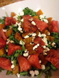 Beet and Watermelon Salad - mouthwatering, healthy & easy to prepare