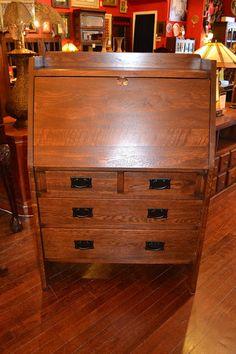 Mission Oak Secretary Desk / Arts and Crafts Mission Furniture