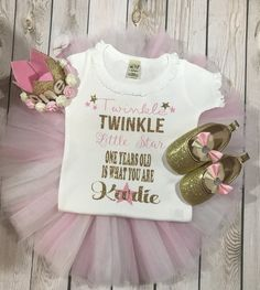 First birthday outfit girl, twinkle twinkle little star first birthday girl, first birthday tutu outfit girl, baby girl clothing, baby shoes #babygirloutfits #littlegirloutfits