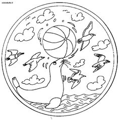 Coloring pages special mandala - picture 206