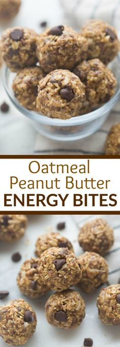 Oatmeal Peanut Butter Energy Bites are the perfect healthy, grab-and-go snack for a busy day!