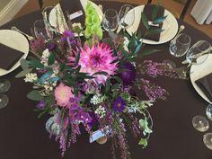 Purple arrangement , #dahlia #aster #callunavulgaris #eicalip