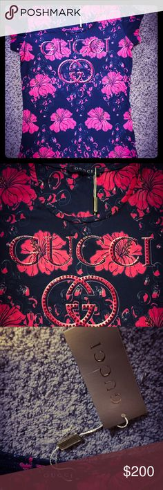 Women very pretty top. Women very stylish top with rhinestones. Size: M. Very pretty. Last one. Gucci Tops Tank Tops