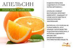 Апельсин - полезные свойства