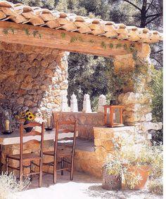Gute Ideen, Zuhause, Garten, Toskanischer Garten, Flusshaus, Ferienhaus,  Haus In Den Wäldern, Steinmauerwerk, Vorplätze