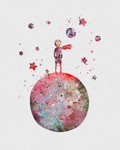 Little prince/ wallpaper and background resmi - wallpapers, Hintergrund - Art And Illustration, Images Disney, The Little Prince, Cute Wallpapers, Wallpapers Android, Art Inspo, Painting & Drawing, Amazing Art, Watercolor Paintings