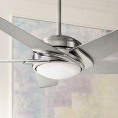 "54"" Casablanca Stealth Brushed Nickel LED Ceiling Fan - #4K650   Lamps Plus"