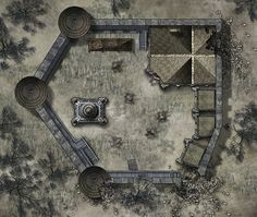 Once again, I'm making maps for my D&D game. This is the Haunted Keep the heroes are exploring.