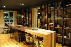 cafe interior  would also be a very cool work or home office space