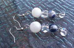 Moonstone Sodalite and Crystal Earrings by TripIntoLight on Etsy, $13.00