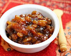 Rhubarb-apricot chutney is a seasonal favorite in our house. Try it with grilled steak or a potato curry.